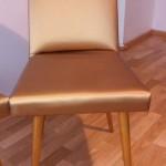 złote krzesła z metalicznego skaju  wyk. własne