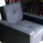 fotel czarny z ekoskóry wg.wzoru klienta wyk. własne