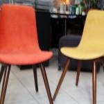 designerskie, kolorowe krzesełka wyk. własne