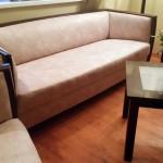 stylowa kanapa w cieniowaną ekoskórę