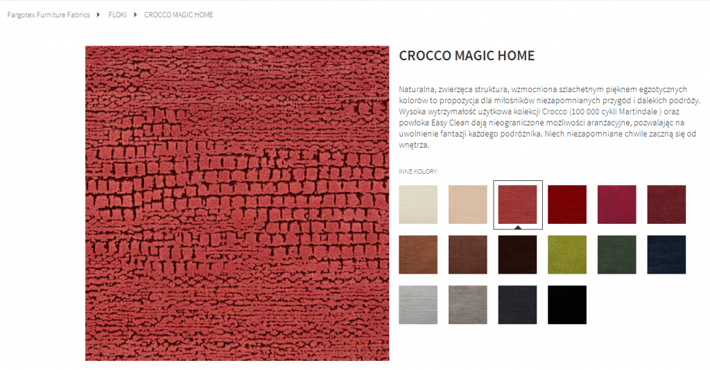 Fargotex -tkanina CROCCO MAGIC HOME