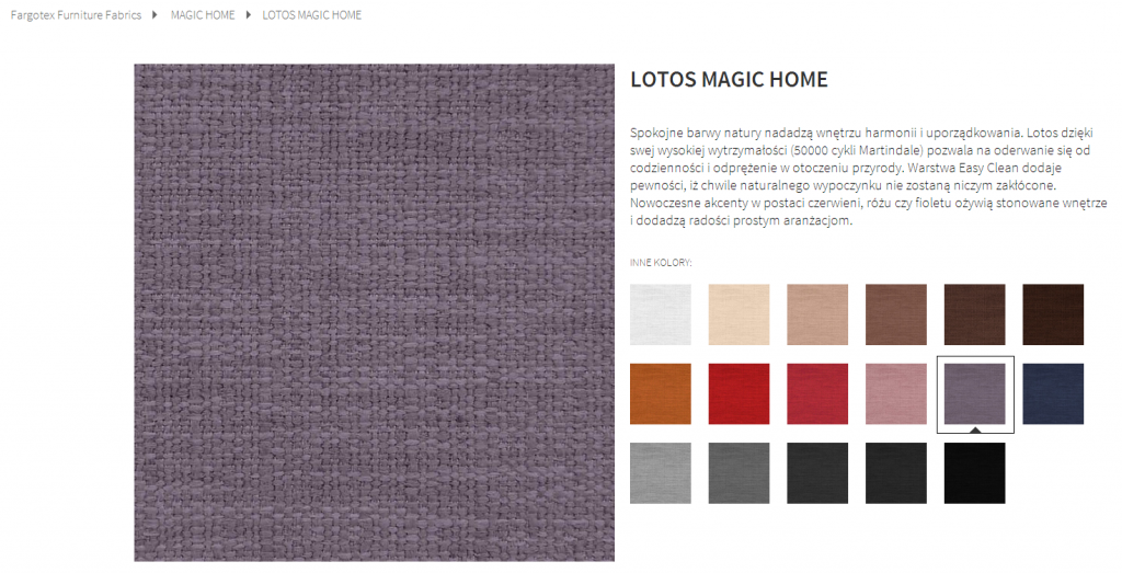 Fargotex - tkanina LOTOS MAGIC HOME