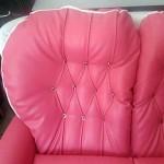 pikowana sofka do salonu kosmetycznego ROSE